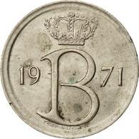 Belgique, 25 Centimes, 1971, Bruxelles, TTB, Copper-nickel, KM:154.1 - 02. 25 Centimes