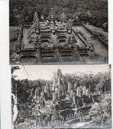712z   Cambodge Lot De 2 Cpa Le Bayon Et Angkor Vat - Cambodia