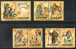 AITUTAKI. N°205-12 De 1977. Noël/Scènes De La Bible. - Christmas