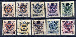 SWEDEN 1918 Landstorm Fund On Ring Types Set Used.  Michel 115-24 - Sweden