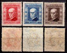 Cecoslovacchia-032- 1923 - Y&T N. 189/191 (+) LH - Senza Difetti Occulti. - Cecoslovacchia