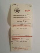 1937 - Bon Pour 1 Flacon Mignonnette Chartreuse Jaune Ou Verte - Voiron - Non Classés