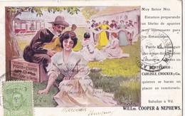 Carte Commerciale. - WILLm. COOPER &NEPHEWS. Carte RARE - Uruguay