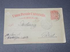 CHILI - Entier Postal De Talca Pour Paris  En 1904 - L 10595 - Chile