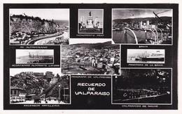 RECUERDO DE VALPARAISO. MUTI VISTA VIEW VU. LEONAR. CHILE CHILI-BLEUP - Chili