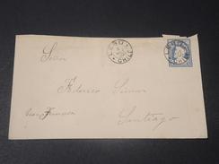 CHILI - Entier Postal ( Enveloppe ) De Lebu Pour Santiago En 1900 - L 10597 - Chile
