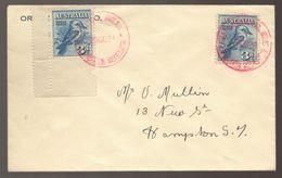 1928 KOOKABURRA 3d Blue Australia Red Cancel Philatelic Exhibition Cover --- SCARCE Cover - Postmark Collection