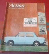 L'action Automobile Et Touristique Novembre 1961 SIMCA 1000 Au Banc D'Essai, Les Modèles 62 Sunbeam Alpine Super - Auto/Moto
