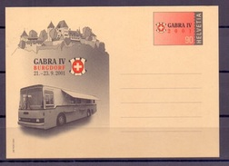 Schweiz 2001: GABRA IV Burgdorf Mit PTT-Automobil-Postbureau Bus (zum Frankaturwert Von 90c Angeboten) - Bussen