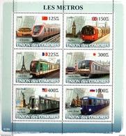 Comores Komoren Kleinbogen U-bahn METRO 2008  ** / MNH - Trains