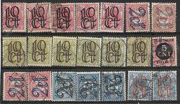 _3L-295:  Restje Van  21 Opruimingszegels:   Diverse ...... Verder Uit Te Zoeken.. - 1891-1948 (Wilhelmine)