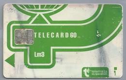 MT.- Telefoonkaart.- MALTA. Telemalta Corporation. TELECARD 60. Lm3. Logo New Design. 2 Scans. - Malta
