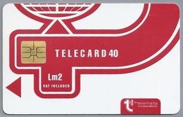 MT.- Telefoonkaart.- MALTA. Telemalta Corporation. TELECARD 40. Lm3. Vat Included. Logo New Design. 2 Scans. - Malta