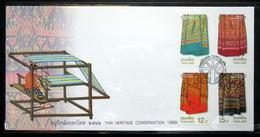 Thailand Stamp FDC 1999 Thai Heritage Conservation Day - Thailand