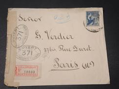 URUGUAY - Enveloppe En Recommandé De Montévideo Pour La France Avec Contrôle Postal Militaire Français - L 10609 - Uruguay