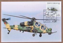 AC - TURKEY POSTAL STATIONARY - VEHICLES HELICOPTER ANKARA, 23 NOVEMBER 2017 - 1921-... Republic