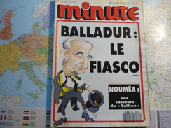 """Minute N°1315  Du 18 Juin Au 24 Juin 1987 Balladur : Le Fiasco / Nouméa : Les Casseurs Du""""Caillou"""" - Politique"""