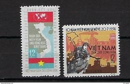 """Viet-Nord YT 383 & 384 """" Partage Du Viet-Nam """" 1964 Neuf** - Viêt-Nam"""