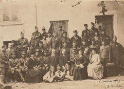Photo Groupe De Militaire Pendant La Guerre Lyon Signée Consul .... - Guerre, Militaire