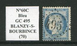 FRANCE- Y&T N°60C- GC 495 (BLANZY SUR BOURBINCE 70) - Storia Postale (Francobolli Sciolti)
