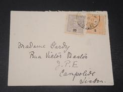 PORTUGAL - Enveloppe Pour Lisbonne , Affranchissement Bicolore - L 10621 - Lettres & Documents