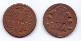 German East Africa 20 Heller 1916 T ( Obverse B-reverse B), KM#15 - Afrique De L'Allemagne De L'Est