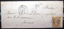 Cachet Type 15 + GC 3112 Sur N° 21 + O.R  -  RENNES  -  ILLE ET VILAINE  -  LSC - 1867 - 1849-1876: Classic Period