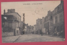 91 - ATHIS MONT---La Place De L'Eglise---commerces---animé - Athis Mons