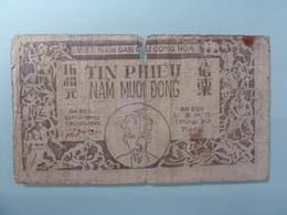 VIETNAM-TIN PHIEU 50 DONG.VERY RARE(poor) - Vietnam