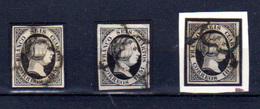1851  Espagne, Isabelle II, 3 X  6 Ob, Cote 12 €, - 1850-68 Kingdom: Isabella II