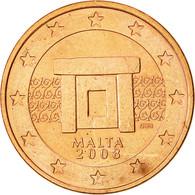 Malte, 5 Euro Cent, 2008, Paris, SUP, Copper Plated Steel, KM:127 - Malta
