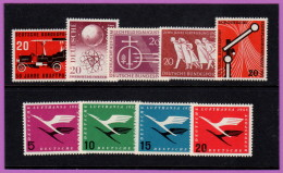 GER SC #728/#C64 MNH 1955 Selected Commems And Air Mail Set CV $61.00 - Unused Stamps