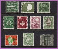 GER SC #735/#753 MNH 1955-56 Selected Commems CV $25.60 - Unused Stamps