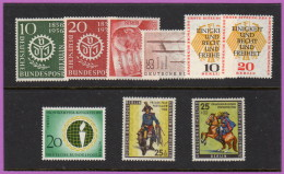 BER SC #9N140/#9NB18 MNH 1950s Selected Commems And Semi-Postals CV $30.70 - Unused Stamps