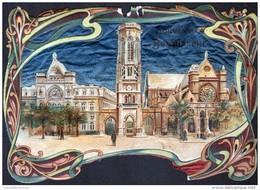 CHROMO SOUVENIR DU BON MARCHE . PAPIER CRYSTAL. STYLE ART NOUVEAU - Au Bon Marché