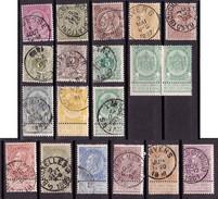 Belgien, 1884-1893 (Michel:€ 130) - 1869-1888 Lying Lion