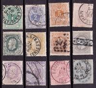 Belgien, 1869-83 (Michel: € 140 - 1893-1907 Wappen