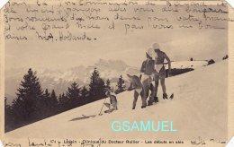 Suisse - LEYSIN , Clinique Du Docteur Rollier Les Débuts En Skis. - Voir Scan. - VD Vaud