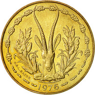 West African States, 10 Francs, 1976, SUP, Aluminum-Nickel-Bronze, KM:1a - Ivory Coast