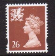 GB Wales 1997-8 26 (no 'p') P.15x14 Elliptical Questa Printing Regional Machin, MNH, SG W80 - Regional Issues