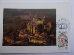 FRANCE CARTE MAXIMUM 1992 YVERT 2763 CHATEAU DE BIRON - Maximumkaarten