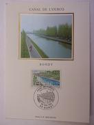 FRANCE CARTE MAXIMUM 1992 YVERT 2764 CANAL DE OURCQ - Maximumkaarten