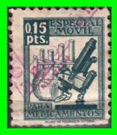 SELLO 15 CÉNTIMOS ESPECIAL MÓVIL PARA MEDICAMENTOS - Fiscales