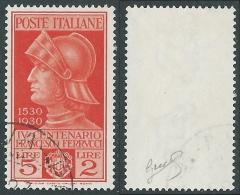 1930 REGNO USATO FERRUCCI 5 LIRE FIRMATO BIONDI - R43-3 - 1900-44 Vittorio Emanuele III
