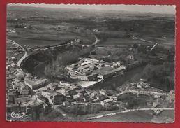 81 - SAIX - VUE AÉRIENNE CINGLE DE L'AGOUT - USINE - CPSM DENTELÉE 1956 - France
