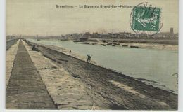 CPA 59 GRAVELINES LA DIGUE DU GRAND FORT PHILIPPE - Gravelines
