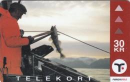 Faroe Islands, OD-025,  30 Kr ,  Long - Line Fishing, 2 Scans - Faroe Islands