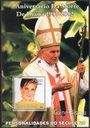 GUINÉ BISSAU 2001 - Pape John Paul II Et Lady Diana - BF Neufs // Mnh - Guinée-Bissau