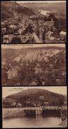 3 BELLES CARTES ** YVOIR SUR MEUSE ** - Panorama - écluse & Villas - Rochers De Champale - Yvoir