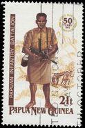 Papua New Guinea Scott # 790, 21t Multicolored (1992) Soldier, Used - Papua New Guinea